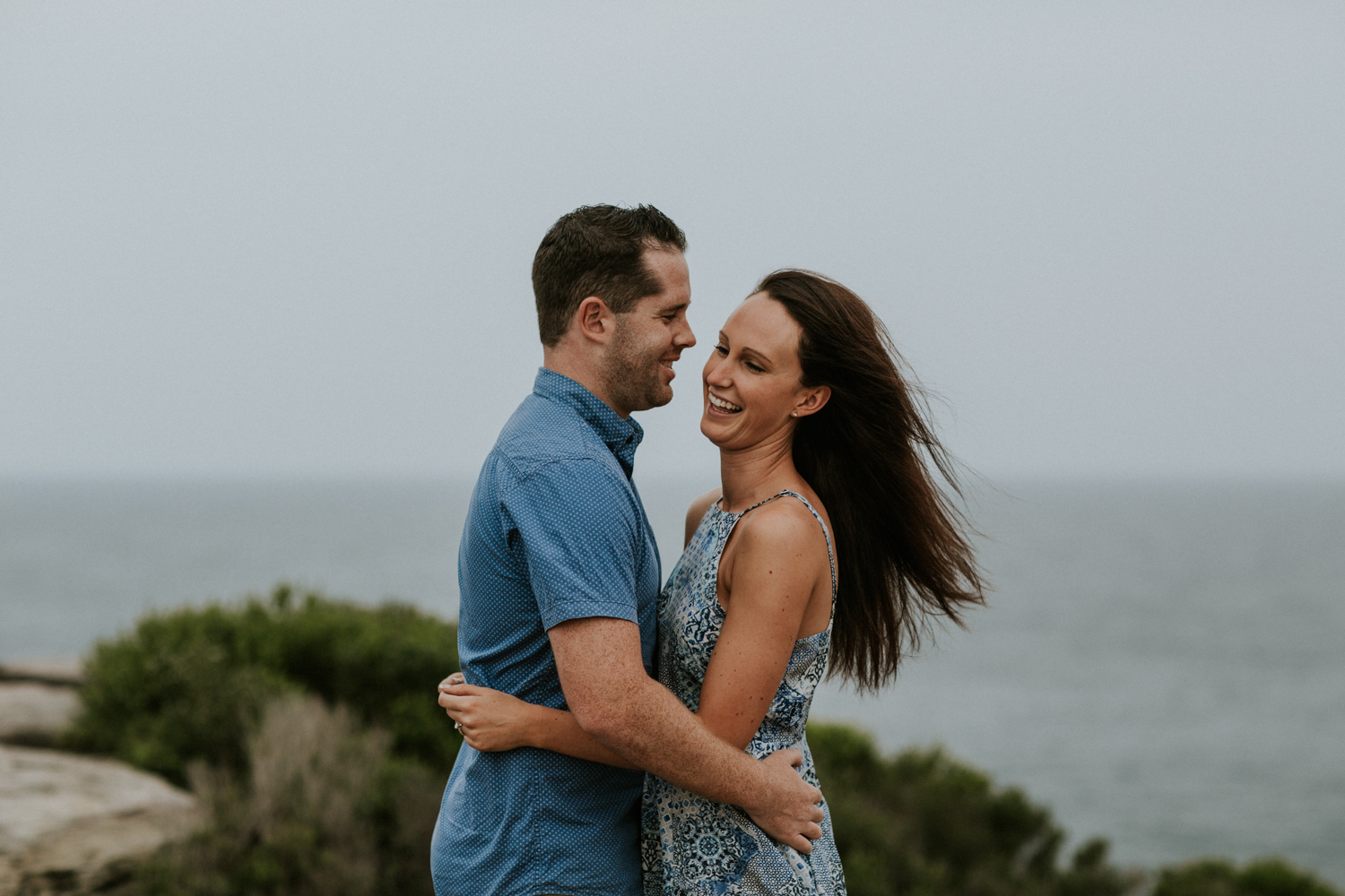 engagement photoshoot in the royal national park