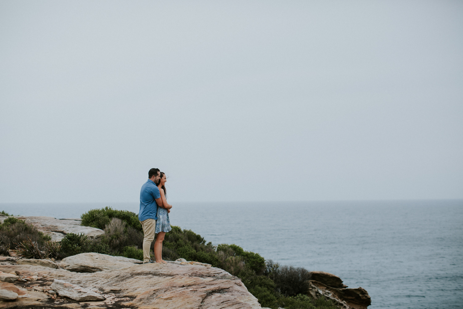 Daniel and kasey engagement photoshot in the Royal National park