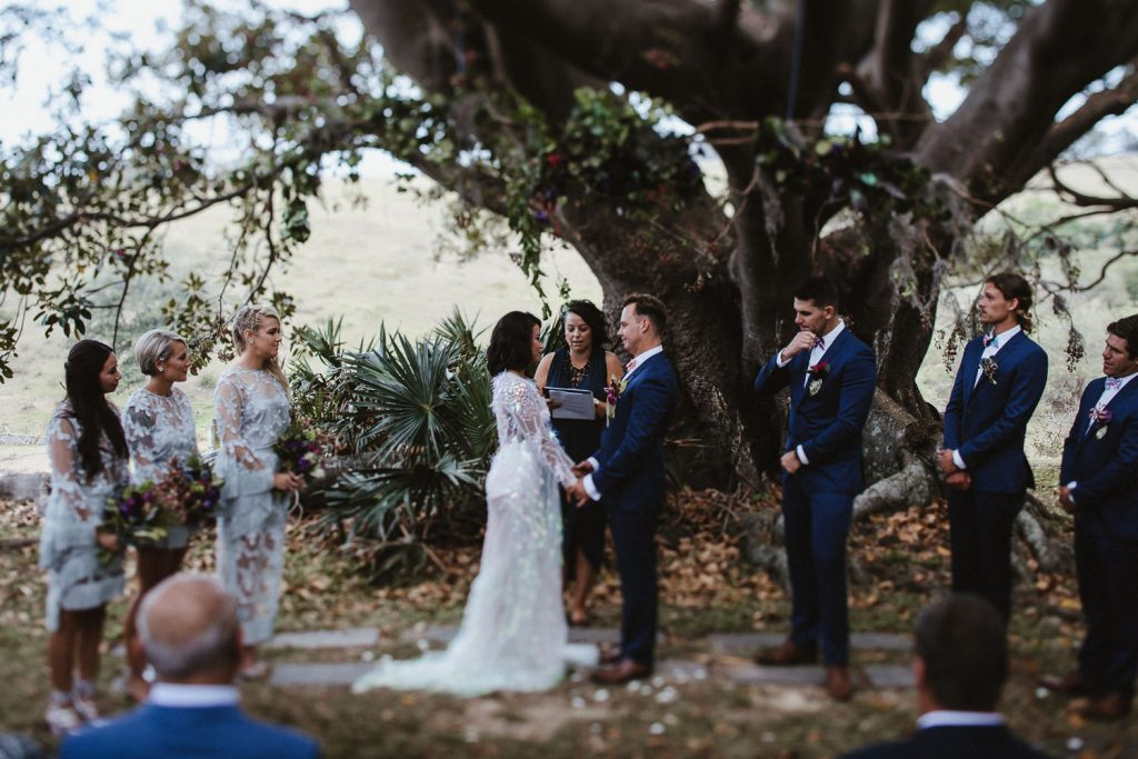 Bush bank Kiama wedding